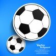 Vector paper soccer ball tag — Stock Vector