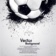 Stock Vector: Grunge soccer ball background