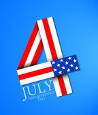 Il 4 luglio — Vettoriale Stock