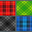 Stock Vector: Textured tartplaid