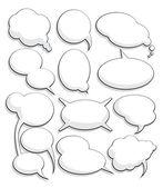 Set of speech bubbles — Stock Vector
