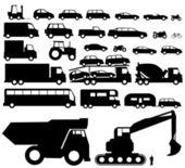 Vehicle silhouette vector — Stock Vector