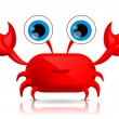 Cute cartoon crab — Stock Vector