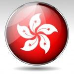 Hong Kong flag button — Stock Vector #26753343
