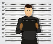 Police mug shot — Stock Vector