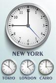 World clock — Stock Vector