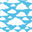 Seamless cloud pattern — Stock Vector