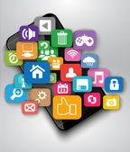 Aplicaciones para smartphone — Vector de stock