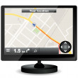 Stock Vector: GPS navigation