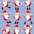 Cute cartoon santa set — Stock Vector