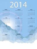 Sky calendar — Stock Vector