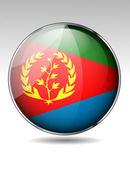 Eritrea flag button — Stock Vector