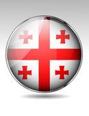 Georgia flag button — Stock Vector