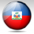 Haiti flag button — Stock Vector