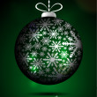 Green Christmas globe — Stockvectorbeeld