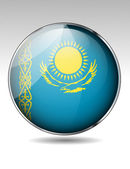 Kazakhstan flag button — Stock Vector