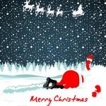 Santa crashed in snow — Stock Vector #36803351