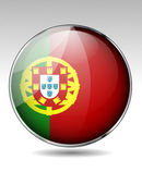 Portugal flag button — Stock Vector