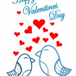 Cute birds Valentines Day — Stock Vector #39832731