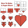 Stock Vector: How To Make Paper Heart