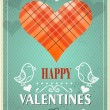Stock Vector: Textured Valentines Day background