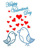 Cute birds Valentines Day — Vector de stock