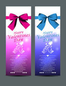Valentines day greeting cards — Stock vektor