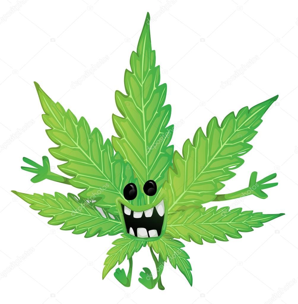 Marihuana Dibujos Graciosos Hoja de Marihuana Graciosos