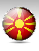 Macedonia flag button — Stock Vector
