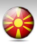 Macedonia flag button — Stock Vector