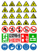 Safety and warning signs — Stock Vector