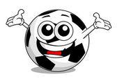 漫画サッカー ボール — ストックベクタ