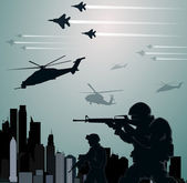 Military invasion — Stock Vector