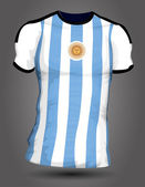 Argentyna soccer jersey — Wektor stockowy