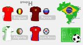 Бразилия Футбол Чемпионат группа — Cтоковый вектор