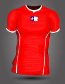 Chile soccer jersey — Stock Vector