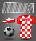Croatia soccer jersey — Stock Vector