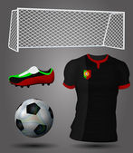 Portugal soccer jersey — Stock Vector