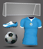 Uruguay soccer jersey — Stock Vector