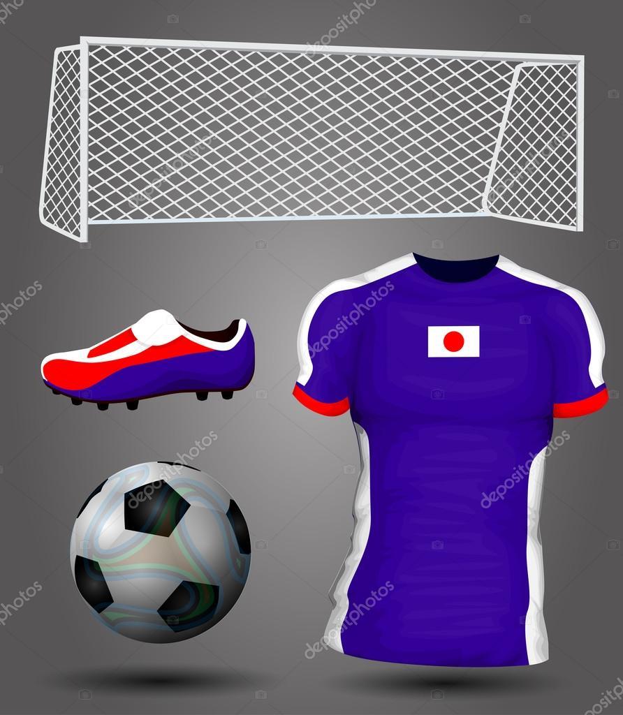 Japan Trikot Japan Fußball Trikot — Vektor