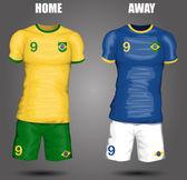 Brazil soccer jersey — Stock Vector