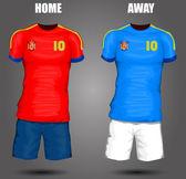 Spain soccer jersey — Stock Vector