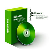 Software box — Stock Vector