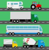 Vector trucks — Stock vektor