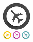 Airplane sign icon — Stock Vector