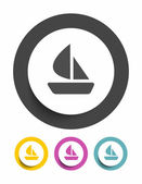Boat sign icon — Stock Vector