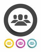 Avatar sign icon — Stock Vector