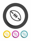 Football sign icon — Stock Vector