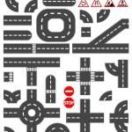 Road elements — Stock Vector #51445451