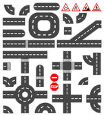 Road elements — Stock Vector